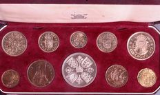 United Kingdom - Farthing up to and including Crown 1953 'Coronation Elizabeth II' (10 coins) in set