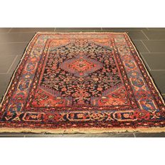 Alter Perser Teppich Senneh Bidjar 110x145cm Made in Iran Tappeto Carpet Old Rug Antique Tapis Tapijt Tappeto um 1930
