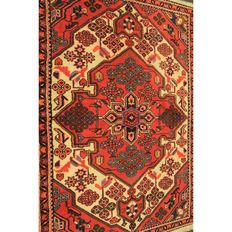 Perser Teppich Malayer Ghom 155x105cm Made in Iran um 1960 Naturfarben Tappeto Tapis Old Rug Carpet Tapijt
