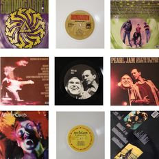 Lot Of Three Collectable LP's By Leading Alternative Rock  &  Grunge Bands  -  Including 2 x Coloured Vinyl