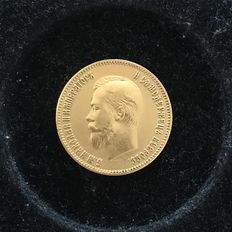 Russia - 10 Roubles 1902 - gold