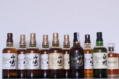 10 bottles - Mixed lot - rare Japanese Whiskies