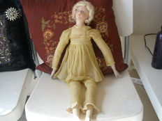 french boudoir doll from the 20s silver shoes