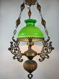 "Old ceiling lamp ""Quinque"" style (oil lamp) - Spain, first half 20th century"