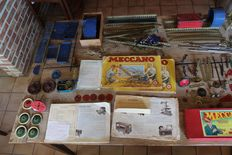 Vintage Meccano bulk parts and manuals - approx. 1950