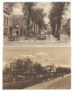 Lot consisting of 82 postcards of Dutch towns and villages