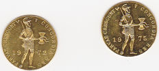 The Netherlands – Ducat 1972 and 1975 Juliana – gold