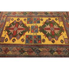 Collector's item, beautiful antique hand-knotted oriental carpet, Kazak, Caucasus, animal patterns, around 1930, old rug, 180 x 122 cm, Carpet Tappeto Tapis