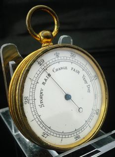 Pocket aneroid barometer - late 19th century