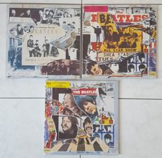 "Beatles - Lot of 3 triple albums ""Anthology"" Volume 1, 2 & 3 / 9 LP's in 3 triple-gatefold-covers 
