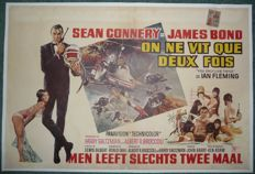 James Bond - You only live twice 1st release Belgian movie poster - 1967 - Sean Connery