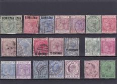 British Commonwealth 1881/1939 - Gibraltar, New Foundland, Canada, Tasmania, S. Vincent, T. and Tobago, Sierra Leone, S. Helena
