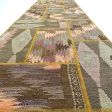Patchwork – 298 x 88 cm – runner - combination of the most beautiful, Persian, kilim carpets, in mint condition.