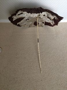 Ladies parasol with Ivory handle. France/England, Brixton 1861