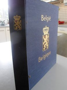 Belgium 1849/1949 – collection in Davo album with coffer.