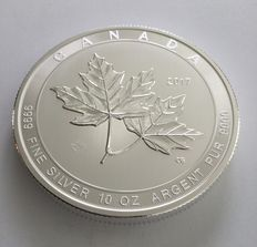 Canada:  10 oz Silbermünze Maple Leaf 2017