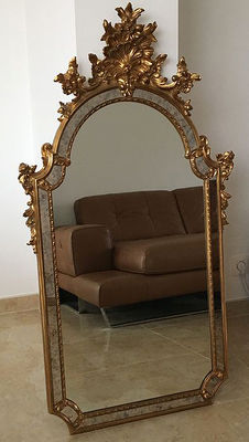 Gold plated French baroque mirror, second half 20th century