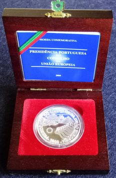 Portugal – 1,000 Escudos marking the Presidency of the Council of the European Union (silver) – 2000 – Lisbon