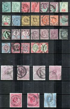 Great Britain King Edward VII 1902/1911 - Collection with various shades.
