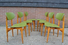Fratelli Reguitti - set of 6 Dining Chairs
