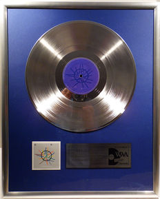 """Depeche Mode - Sounds of the Universe - 12"""" German Mute Record platinum plated record by WWA Awards"""