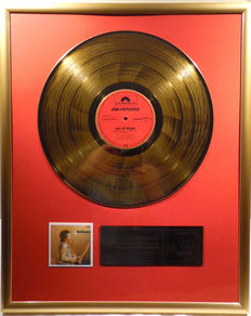 """Jimi Hendrix - Isle of wight -  12"""" german Polydor record gold plated record by WWA Awards"""