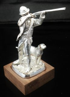 "Solid Silver Limited Edition Model ""The Shot"" , Birmingham 1977, Ammonite Ltd, No 139 of 1000"