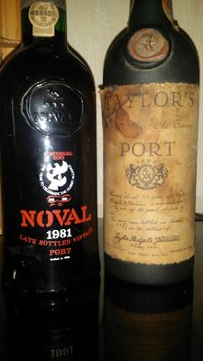 1x Over 40 years old Tawny Port Taylor's - bottled in 1973 & 1x 1981 Late Bottled Vintage Port Noval bottled in 1986