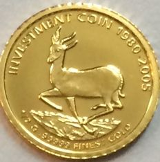 Liberia - 10 Dollars 2005 '25 Years of Investment Coins' - ½ gr. Gold