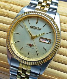 CITIZEN EAGLE7 Day Date Automatic 21 jewels -- men's wristwatch from the 1970s-1980s