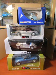 UT Models / Bburago / White Box / Revell - Scale 1/18 - Lot with 4 BMW models: BMW 328, BMW Z3, BMW Isetta & BMW M Roadster