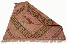 3706 – Antique genuine Kilim carpet – Collector's item – Cicim – 66 x 66 cm – With official certificate of authenticity from an expert – (Galleria Farah 1970)