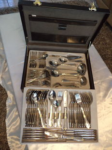 Cutlery case - unique-SBS Solingen 70 -piece 23/24ct finish