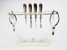Very rare manicure set accessories for hands, bakelite and  Silver plated art deco