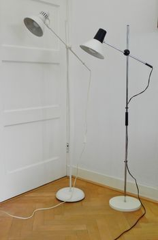 Unknown designer - 2 floor lamps, vintage, 1970s
