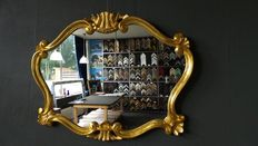 Venetian mirror in the Renaissance style - Hand gilded - gold-coloured