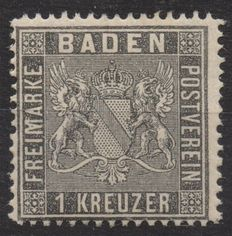 Germany, Old States - 1 Kreuzer, Baden, 1860, K 13 1/2, Michel no. 9