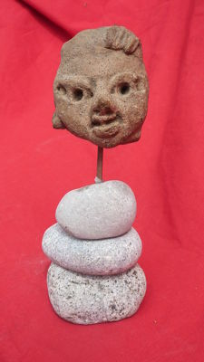 Great pre-Columbian head - 4.5 cm
