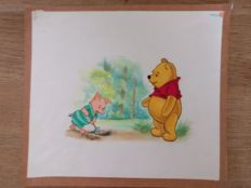 Lukács, Endre - Original illustration Margriet magazine - Winnie the Pooh (1967)
