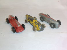 Dinky Toys - Scale 1/48 - Racing Car 'Magic Midget' No.23, Racing Car No.23a and Hotchkiss Racing Car No.23B