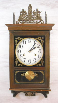 Regulator clock with bronze ornaments - 2nd half of the 20th century