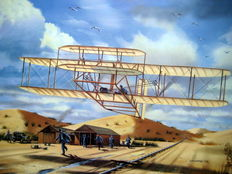 Kitty Hawk, December 17, 1903 - The Wright Brothers - (Great Moments in Aviation)