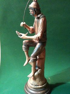 Neapolitan terracotta sculpture from the first half of the 20th century. signed