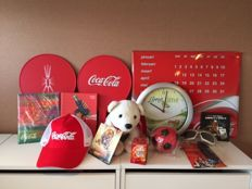 Large lot with different Coca-Cola items mostly from the late 90s early 2000s