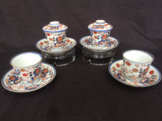 Lot of Imari porcelain bowls and saucers - Japan - 18th century.