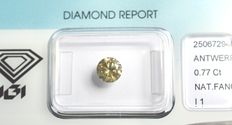 0.77 ct Brilliant cut diamond, natural fancy greyish-brownish-yellow VG/G/VG I1 - NO RESERVE