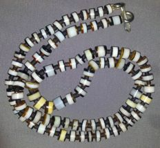 Antique Sulaimani Banded Agate Beads Necklace - 150 - 200 Years old