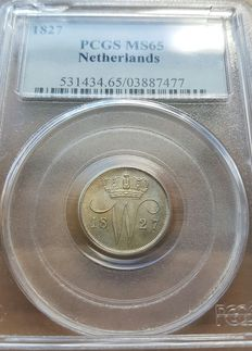 The Netherlands - 10 cents 1827 William I in Slab - silver