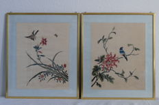 Pictures with silk embroidery - China - 2nd Half of the 20th  century