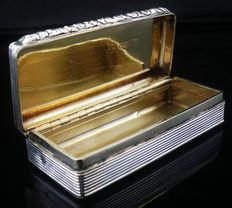 Antique Silver Snuff Box, Birmingham 1833, William Simpson